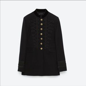 Zara black military jacket NWT Size M